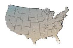 Kaart van de Verenigde Staten Stock Afbeeldingen