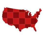 Kaart van de Verenigde Staten Stock Afbeelding