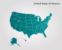Kaart van de Verenigde Staten van Amerika Royalty-vrije Stock Foto's