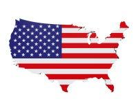 Kaart van de Verenigde Staten van Amerika Stock Afbeeldingen