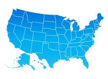 Kaart van de Verenigde Staten van Amerika Stock Foto's