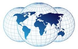 Kaart van de wereld Stock Foto