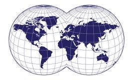Kaart van de wereld Royalty-vrije Stock Afbeeldingen