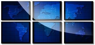 Kaart van de wereld Stock Afbeelding