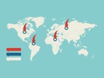 Kaart van de wereld Royalty-vrije Stock Foto's