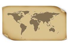 Kaart van de Wereld Stock Fotografie