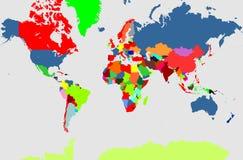 Kaart van de wereld Royalty-vrije Stock Afbeelding
