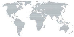 Kaart van de wereld die van grijze punten wordt gemaakt vector illustratie