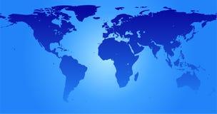Kaart van de wereld (vector) Royalty-vrije Stock Foto