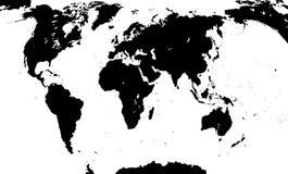 Kaart van de wereld Vector illustratie Stock Foto