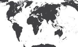 Kaart van de wereld Vector illustratie Royalty-vrije Stock Fotografie