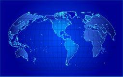 Kaart van de wereld - vectorillustratie Royalty-vrije Stock Foto