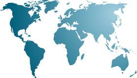 Kaart van de wereldillustratie Stock Fotografie