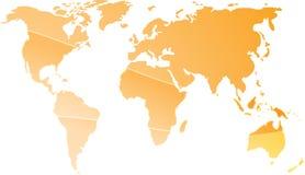 Kaart van de wereldillustratie Royalty-vrije Stock Fotografie