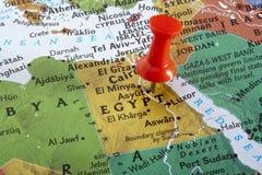 Kaart van Egypte Stock Fotografie