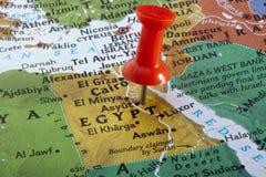 Kaart van Egypte stock foto