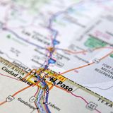 Kaart van El Paso in Texas Royalty-vrije Stock Afbeeldingen