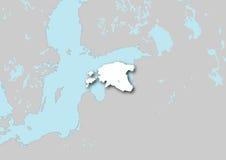 Kaart van Estland Royalty-vrije Stock Fotografie