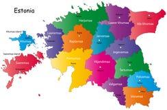 Kaart van Estland Royalty-vrije Stock Afbeeldingen