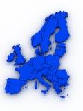 Kaart van Europa Royalty-vrije Stock Foto