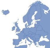 Kaart van Europa Royalty-vrije Stock Fotografie