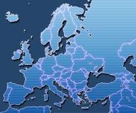 Kaart van Europa Royalty-vrije Stock Foto's