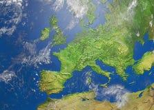 Kaart van Europa stock illustratie