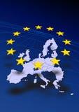 Kaart van Europa Stock Afbeeldingen