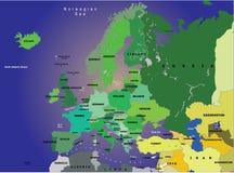 Kaart van Europa Stock Fotografie