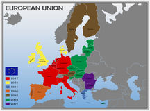 Kaart van Europese Unie Royalty-vrije Stock Foto