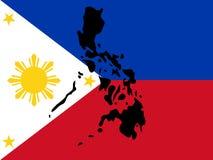 Kaart van Filippijnen Stock Foto