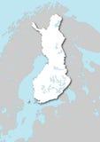 Kaart van Finland Stock Foto