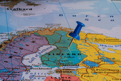 Kaart van Finland Stock Afbeeldingen