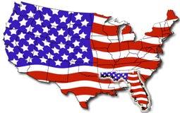 Kaart van Florida de V.S. Royalty-vrije Stock Afbeelding
