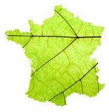 Kaart van Frankrijk Stock Afbeeldingen