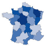 Kaart van Frankrijk Stock Foto