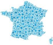 Kaart van Frankrijk Stock Afbeelding