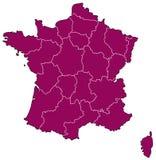 Kaart van Frankrijk Royalty-vrije Stock Fotografie