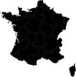 Kaart van Frankrijk Stock Foto's