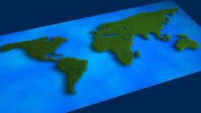 Kaart van gras royalty-vrije stock afbeelding
