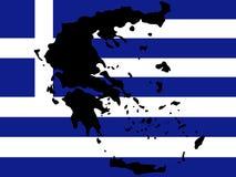 Kaart van Griekenland royalty-vrije illustratie