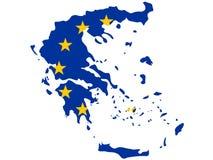 Kaart van Griekenland vector illustratie