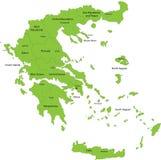 Kaart van Griekenland Stock Foto's
