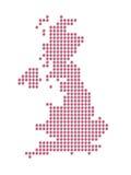 Kaart van Groot-Brittannië Stock Afbeeldingen