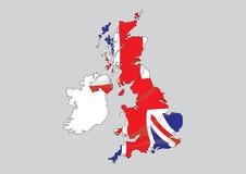 Kaart van Groot-Brittannië en Ierland Royalty-vrije Stock Afbeeldingen