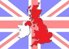 Kaart van Groot-Brittannië en Ierland vector illustratie