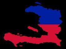 Kaart van Haïti Stock Fotografie