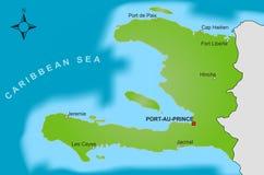 Kaart van Haïti Stock Afbeeldingen