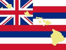 Kaart van Hawaï Royalty-vrije Stock Afbeelding