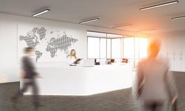 Kaart van het bedrijfs de reizende conceptennet Royalty-vrije Stock Foto